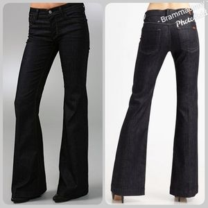 7 For All Mankind Ginger Flare Dark Wash Jeans